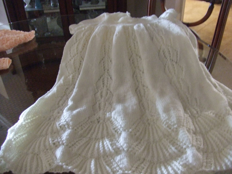 Pattern For Traditional Hand Knit Christening Gown Pretty Lady Knits