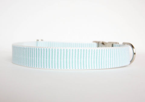 Seersucker,Dog,Collar,-,Mint,seersucker dog collar, dog collar, southern dog collar, mint, mint green, seersucker