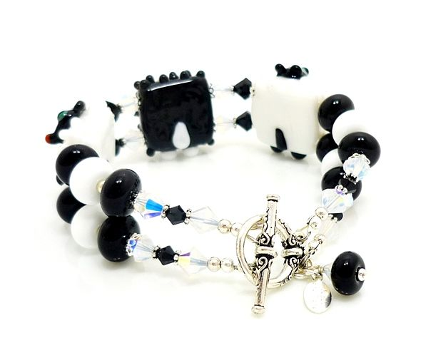 Beaded Sheep Bracelet - product images  of