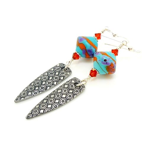 Southwestern,Dagger,Earrings