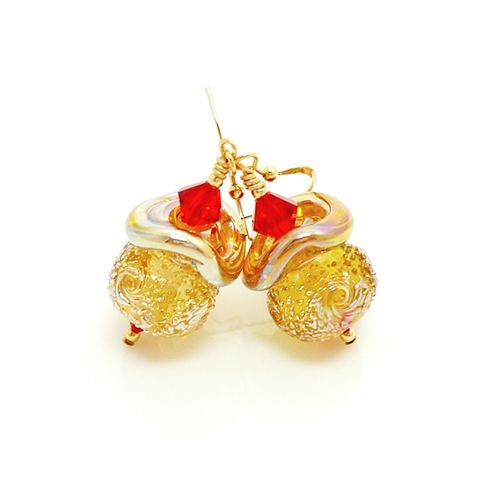 Gold,Sparkle,Earrings,Handmade, Handcrafted, Lampwork, Glass, Earrings, Jewelry, Christmas Earrings, Lampwork Earrings, Lampwork Glass Earrings, Handmade Lampwork Jewelry, Beadz and More, Handcrafted Bead Jewelry, Glass Beads Jewelry, Holiday Earrings