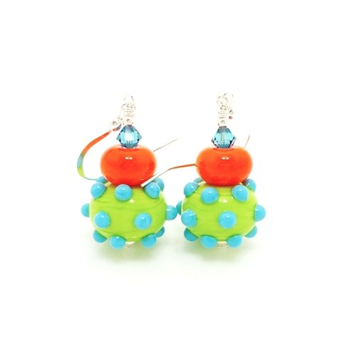 Southwestern,Bumpy,Bead,Earrings,Handmade, Handcrafted, Lampwork, Glass, Earrings, Jewelry, Colorful, Lampwork Earrings, Lampwork Glass Earrings, Handmade Lampwork Jewelry, Beadz and More, Handcrafted Bead Jewelry, Handmade Lampwork Earrings, Glass Beads Earrings