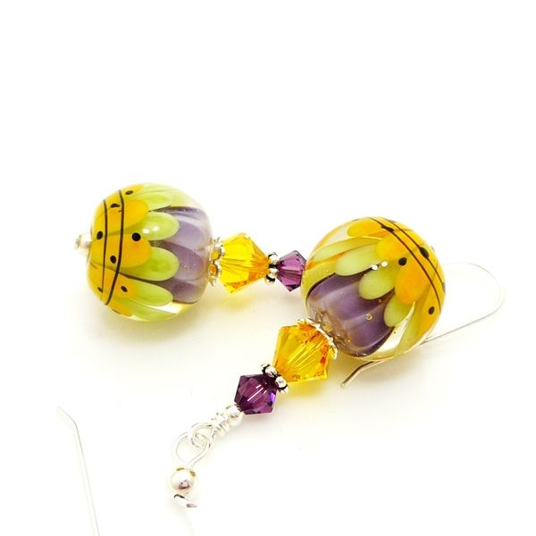 Spring Fling Lotus Flower Earrings - product images  of