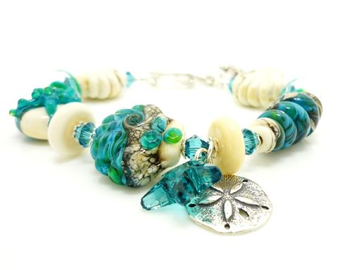 Blue,Seashell,Bracelet