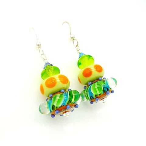 Colorful,Beaded,Earrings