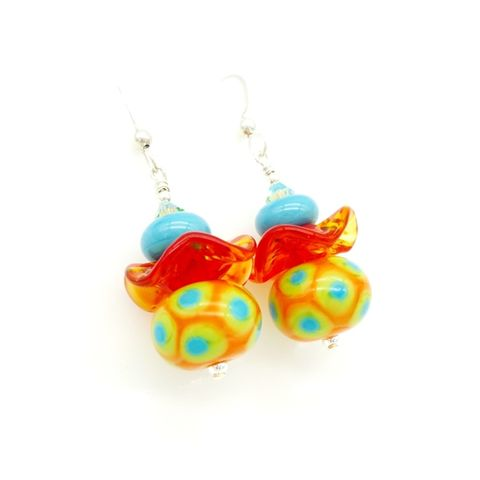 Southwest,Ruffle,Earrings