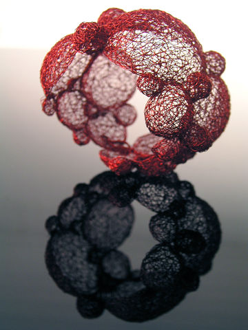 Bracelet,from,Bubble,collection,braceklet, wire, interlacing, colored, jewellery