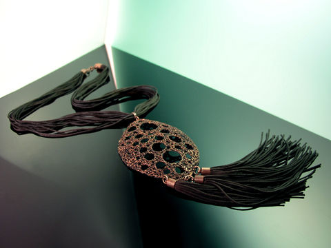 Necklace,from,NERObyNIIRO,collection,necklace, wire, interlacing, colored, jewellery,copper