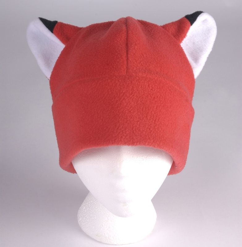 Fox Ear Hat - Red Fleece Hat - product image