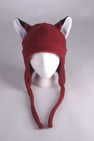 Fox,Hat,-,Dark,Red,Fleece,Earflap,Aviator,Accessories,Ear_Flap,animal,red,fox,snowboarding,kitsune,aviator_hat,mens_hat,fox_hat,red_fox_hat,womens_hat,winter_hat,fox_ears,fox_ear_hat,fleece