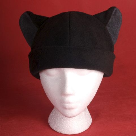 Cat,Hat,-,Black,/,Gray,Fleece,Ears,Accessories,Animal,warm,black,gray_grey,neko,winter,kitty_cat,beanie,anime,cosplay,cute_hat,Halloween_hat,mens_hat,womens_hat,fleece