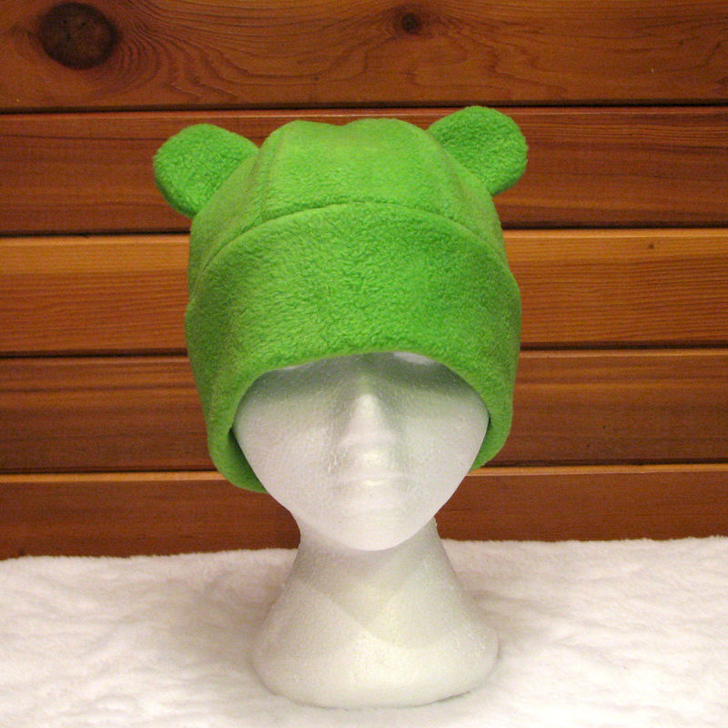 Gummy Bear Fleece Hat - Lime Green - product image