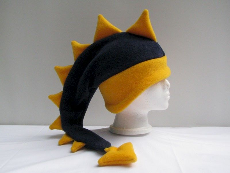 Dragon Hat Fleece - Navy Blue / Yellow Gold - product image