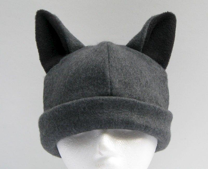 Black Cat Ears Beanie Hat