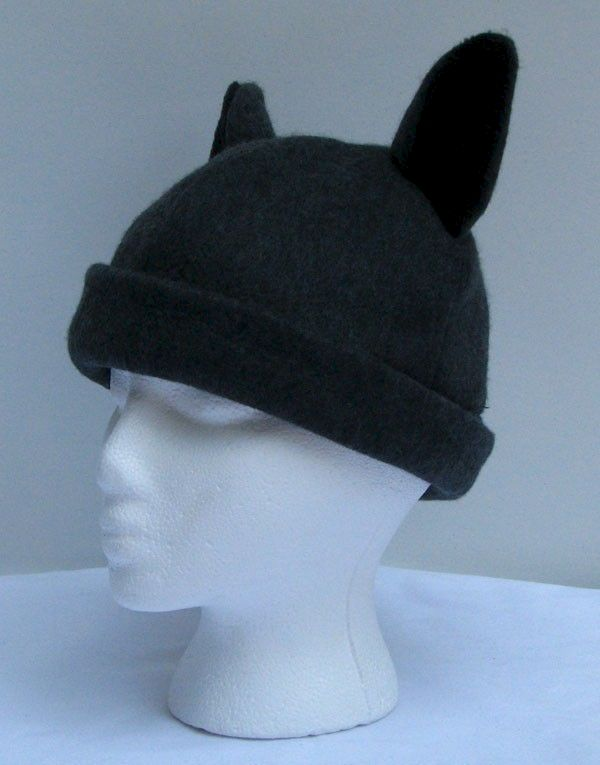 Wolf Hat - Mens Womens Teen Wolf Hat Gray Fleece Wolf Ears - product image