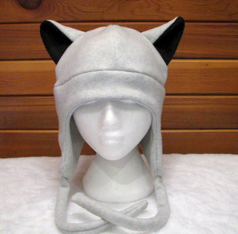 Gray,Wolf,-,Silver/Grey,Ear,Fleece,Aviator,Flap,Hat,Accessories,Animal,animal_hat,grey_hat,gray_hat,wolf_hat,fleece_hat,wolf_ears,anime_hat,mens_hat,winter_hat,silver,ear_flap_hat,aviator_hat,animal_ear_hat