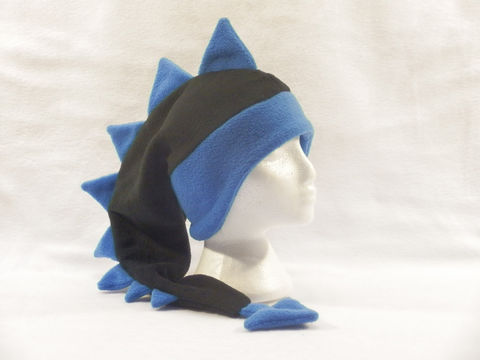 Dragon,Hat,-,Black/Royal,Blue,Accessories,Animal,dragon_hat,dinosaur_hat,animal_hat,mohawk_hat,ear_flap_hat,crazy_hat,fun_hat,mens_hat,womens_hat,boys_hat,girls_hat,winter_hat,warm_hat,fleece
