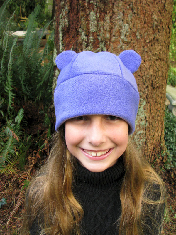 Bear Ear Hat - Purple Fleece Gummy Bear - product image
