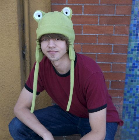 Fleece,Frog,Ear,Flap,Hat,-,Light,Green,Aviator,Accessories,Animal,green,frog,toad,kermit,snow,rave,cosplay,sage,ear_flap,mens_hat,womens_hat,winter_hat,frog_hat,fleece,felt