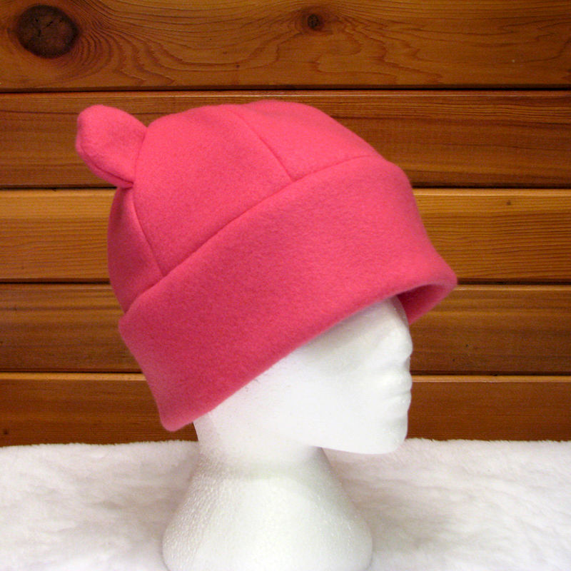 Pink Fleece Animal Hat - Girls Womens Gummy Bear Hat - product image