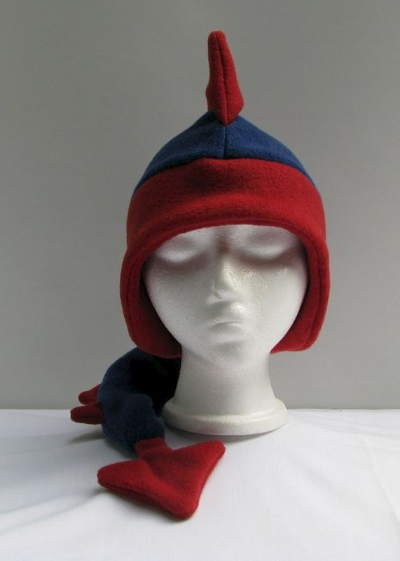 Denim Blue / Red Dragon Hat - product image