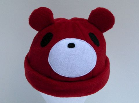 Red,Bear,ningen,Accessories,Hat,Animal,red,bear,women,men,cosplay,gloomy,kawaii,bear_hat,anime_hat,rave_hat,animal_hat,costume,animal_ear_hat,fleece,felt