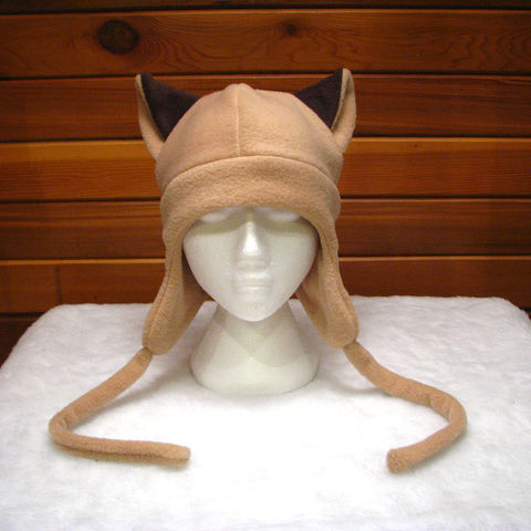 Light,Brown,Fleece,Ear,Flap,Siamese,Cat,Hat,-,Aviator,Style,ningen,Accessories,Animal,cat_hat,cat_ears,kitty_hat,Siamese_cat,Siamese_cat_hat,brown_hat,fleece,ear_flap_hat,aviator_hat,trapper_hat,fleece_animal_hats,womens_hat,mens_hat