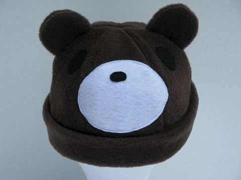 Chocolate,Brown,Teddy,Bear,Hat,ningen,Accessories,Animal,chocolate,animal_hat,teddy_bear,bear_hat,anime_hat,teddy_bear_hat,cosplay_hat,kawaii_hat,winter_hat,winter_beanie,gloomy_bear_hat,mens_hat,womens_hat,fleece,felt