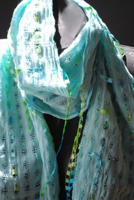 caribbean,aqua,cotton,scarf, aqua, blue, cotton, ribbon