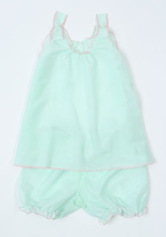 Sylvia,silk,cotton,pj,set,mint,pajama, girls, set, silk