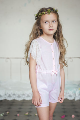 Nora,jumpsuit,girls, nighwear, cotton