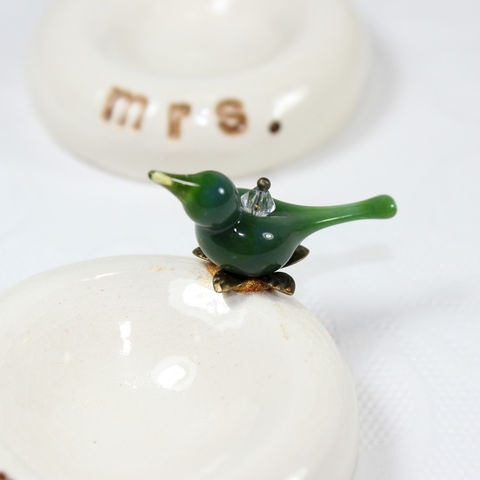 Mr and Mrs ring bowls, his and hers wedding gift for couples - product images  of