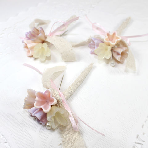 Rustic,pink,flower,boutonnieres,with,muslin,,ribbon,and,twine,-,Set,of,3,Rustic pink flower boutonnieres, muslin boutonnieres, ribbon and twine boutonnieres, Set of 3 handmade boutonnieres, custom flower boutonnieres, personalized boutonnieres, custom boutonnieres, glass flower boutonnieres