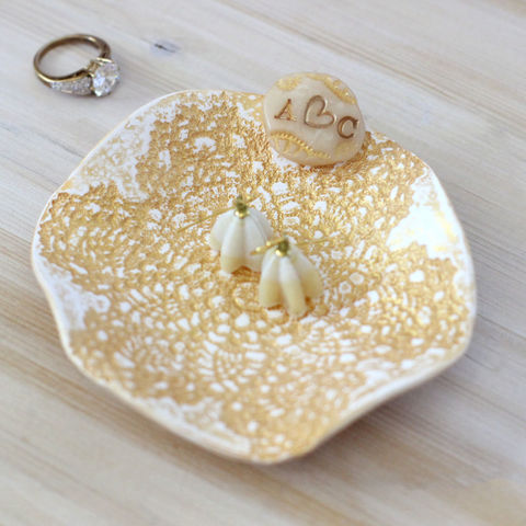 Personalized,gold,lace,ring,dish,,monogram,jewelry,holder,Housewares,Home_Decor,Plate,gold_lace_ring_dish,romantic_gift,valentines_gift,monogram_ring_dish,jewelry_holder,gold_lace_dish,custom_gold_dish,custom_valentine,alternative,ring_bearer_dish,polymer clay