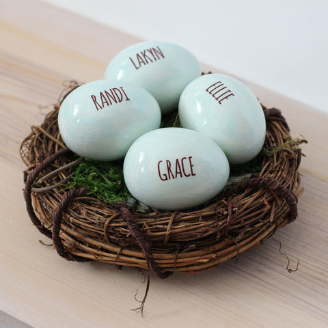 Personalized,name,eggs,in,birds,nest,-,family,gift,for,mothers