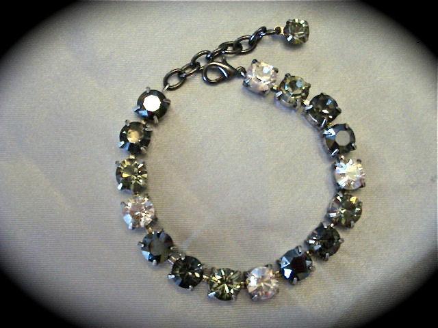 Swarovski Black Diamond Cut Bridesmaid Tennis Bracelet