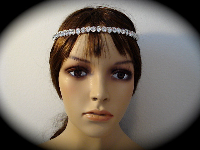 Bridal Teardrop Browband - The Crystal Rose Bridal Jewelry and ... b5cbd351b62