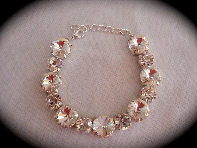 Crystal Chunky Bracelet Swarovski The Crystal Rose