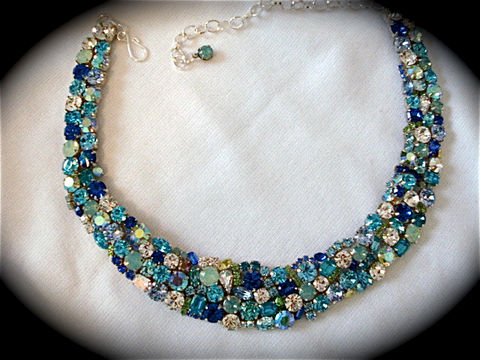 Tropical,Blue,Opal,Crystal,Statement,Necklace,Jewelry,Glass,statement_necklace,bib_necklace,bridesmaid_necklace,rhinestone_necklace,bridal_necklace,bridal_bib_necklace,Blue_green_necklace,Wedding_necklace,Opal_necklace,Green_necklace,teal_necklace,Opal_bridal_necklace,Blue_necklace,swarovski