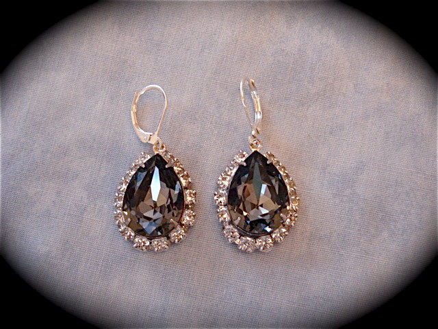 Black And Silver Wedding Jewelry Collection The Crystal Rose Bridal Accessories