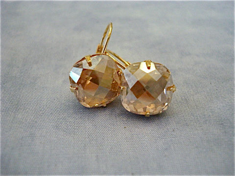 Large,Golden,Champagne,Cushion,Earrings,,Swarovski,12mm,Jewelry,Earrings,Dangle,crystal_earrings,stud_earrings,crystal_studs,Swarovski_earrings,Square_earrings,bridal_earrings,wedding_earrings,Cushion_studs,Swarovski_studs,Sabika,champagne_earrings,golden_shadow,dangle_earrings,swarovski crystal,sterling silve