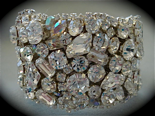 Chunky Swarovski Crystal Bridal Bracelet Product Images Of
