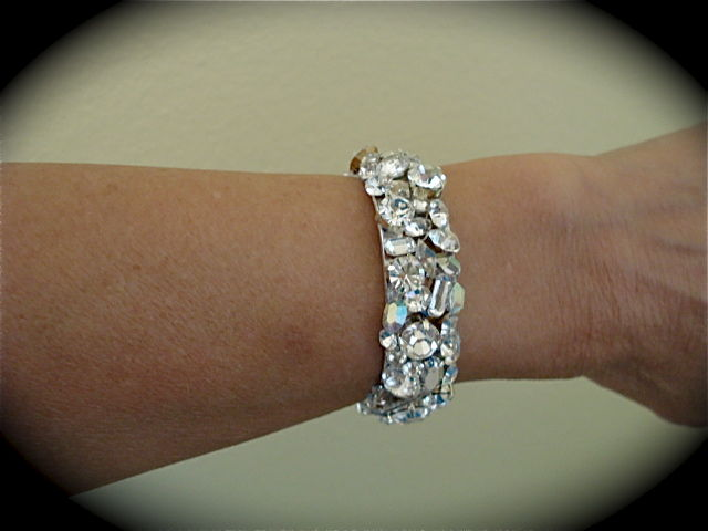 Swarovski Crystal Wedding Cuff The Crystal Rose Bridal Jewelry and