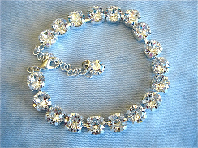 Diamond Cut Clear Crystal Bridesmaid Bracelet The