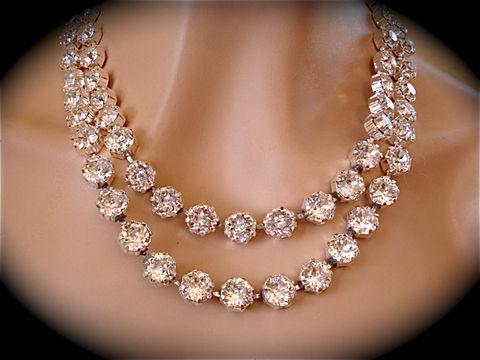 Double Strand Swarovski Crystal Statement Necklace - The Crystal ...