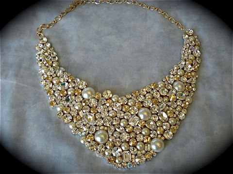 Pearl Mosaic Bridal Jewelry Collection The Crystal Rose