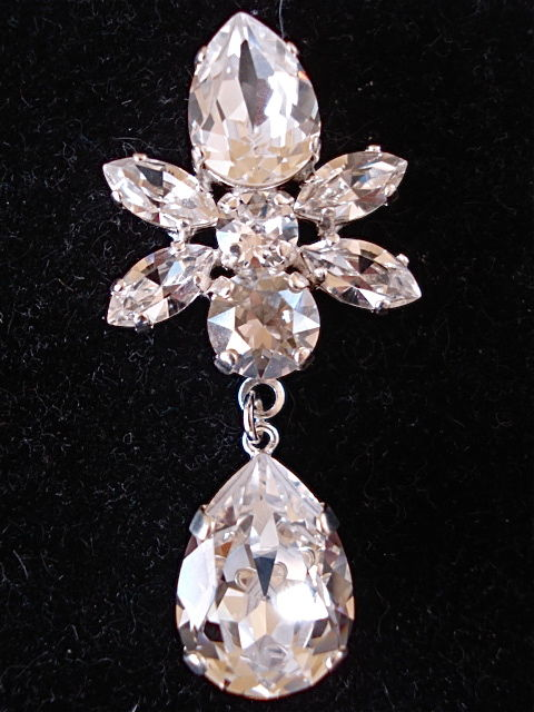 Swarovski Crystal Star Tear Drop Earrings The Crystal