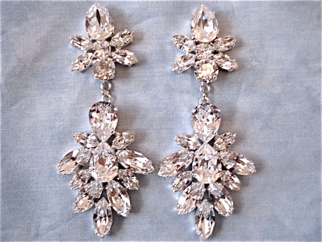 earrings rose crystal dark products image designs harrison grande vintage vicky swarovski