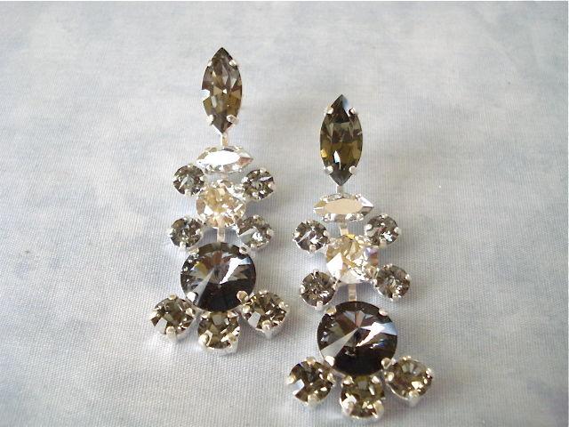Vintage style swarovski black crystal chandelier earrings the vintage style swarovski black crystal chandelier earrings product images of mozeypictures Image collections
