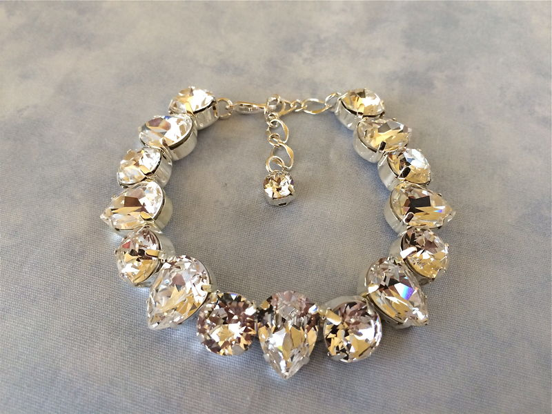 Clic Teardrop Bridal Bracelet The Crystal Rose Jewelry And Accessories